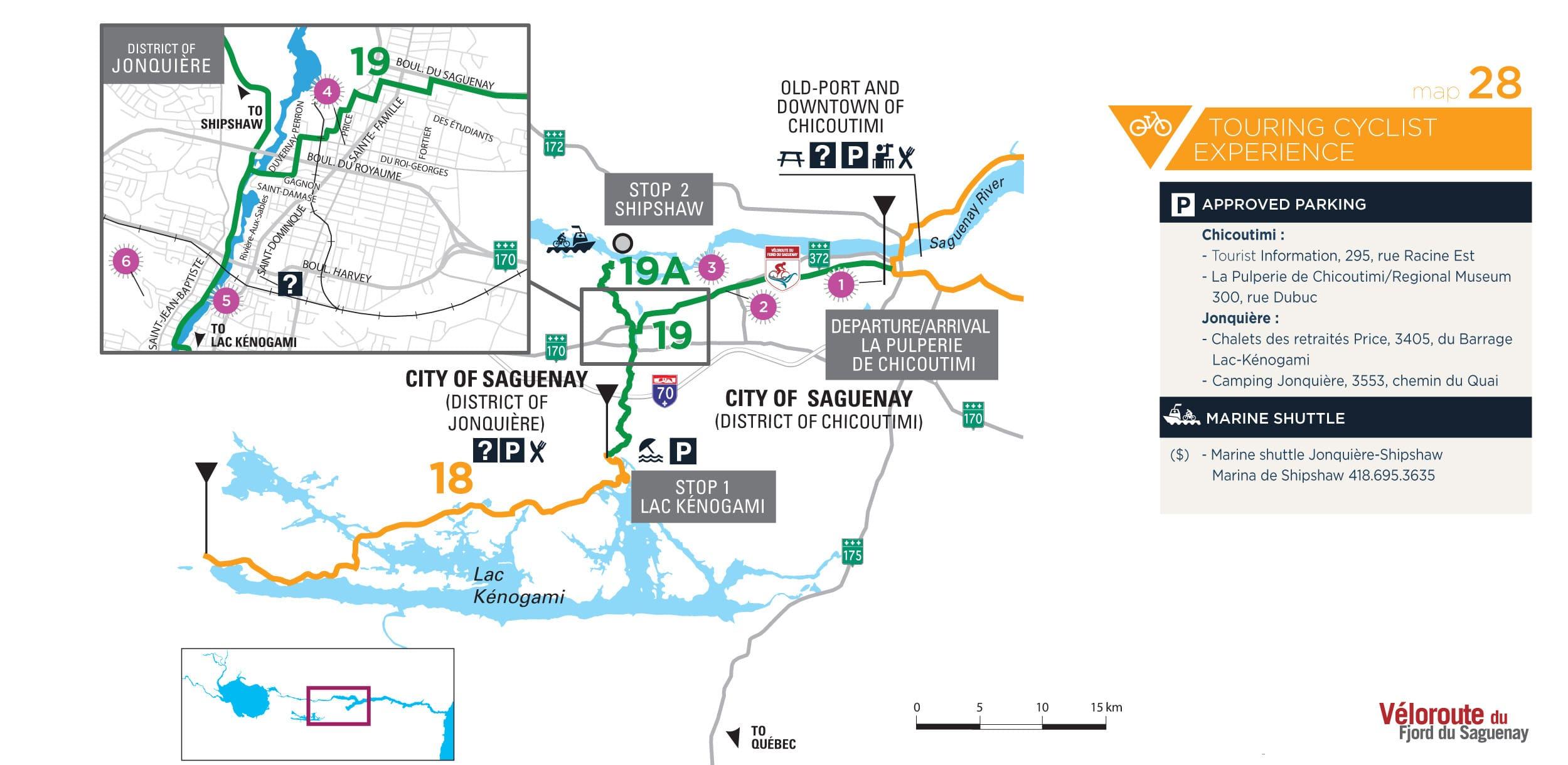 Map 28 63 km Bike Experience